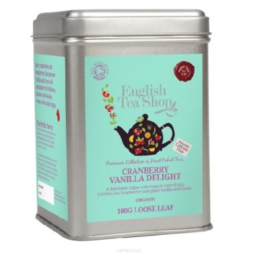 Owocowa herbata Cranberry Vanilla Delight - English Tea Shop - puszka 100 g