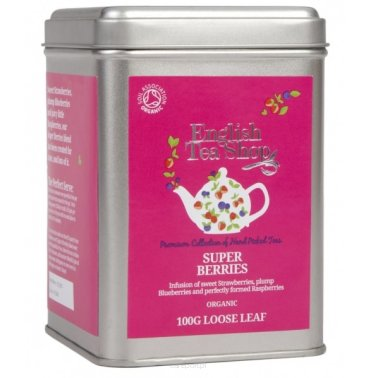 Owocowa herbata Super Berries - English Tea Shop - w puszce 100 g