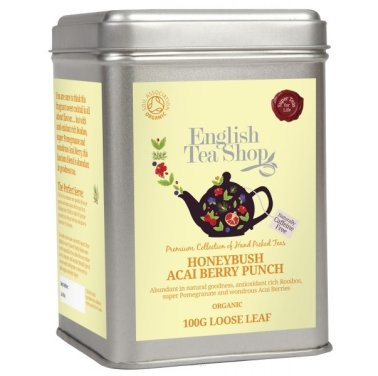 Owocowa herbata Honeybush Acai - English Tea Shop - w puszce 100 g