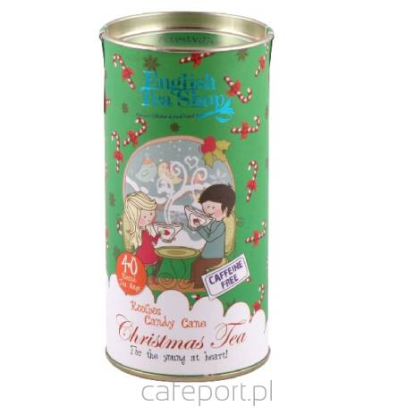 Herbata English Tea Shop - Rooibos Candy Cane - Tuba 40 torebek