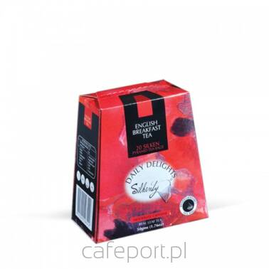 Czarna herbata English Breakfast Silkenty piramidki w kartoniku 50 g
