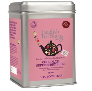 Owocowa herbata Chocolate Super Berry Burst - English Tea Shop - w puszce 100 g
