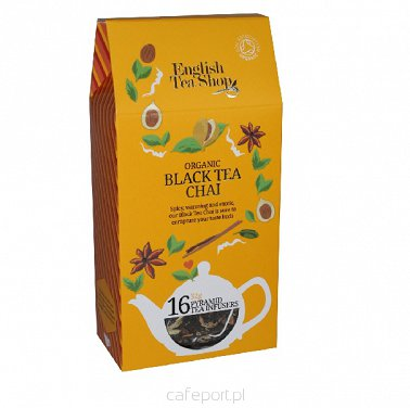 Czarna herbata Chai - English Tea Shop - w piramidkach 32 g