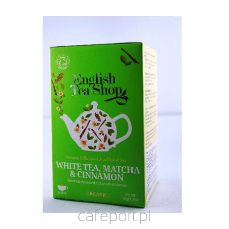 Biała herbata, matcha i cynamon - English Tea Shop - w saszetkach 35 g
