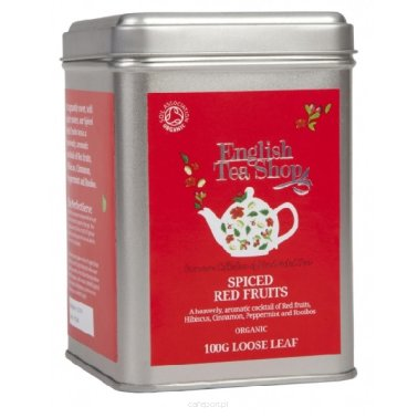 Owocowa herbata Spiced Red Fruits - English Tea Shop - w puszce 100 g