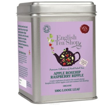 Owocowa herbata Apple Rosehip Raspberry Ripple - English Tea Shop - puszka 100 g