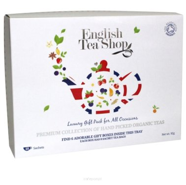 Zestaw prezentowy herbat English Tea Shop - Luxury Tea - 48 saszetek