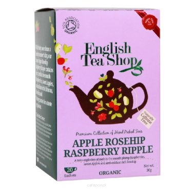 Owocowa herbata Apple Rosehip Raspberry Ripple - English Tea Shop - w saszetkach 30 g