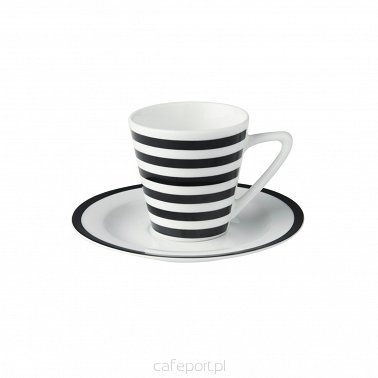 "Porcelanowe filiżanki do espresso Dutch Rose ""Paski"" 90 ml - komplet 2 szt."