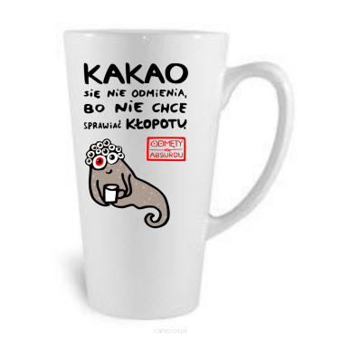"Porcelanowy kubek do latte ""Kakao"" Odmęty absurdu - 440 ml"