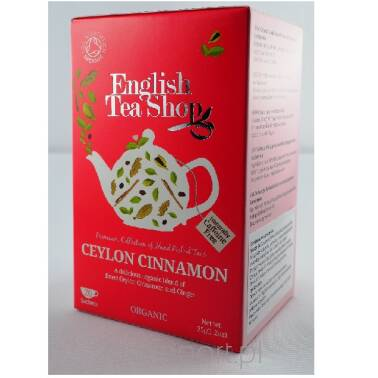 Cynamonowa herbatka - English Tea Shop - w saszetkach 35 g