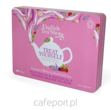 Zestaw prezentowy herbat English Tea Shop - Treat Yourself w metalowej puszce - 36 saszetek